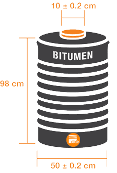 Bitumen New Steel Drum