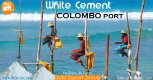 White Cement Sales for Colombo Port