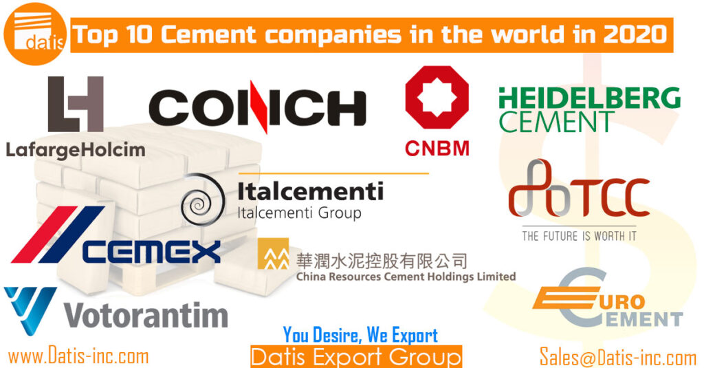 Top 10 cement companies in the world in 2020