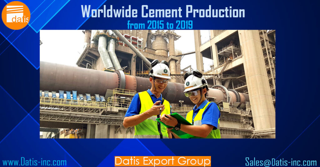 Worldwide Cement Production from 2015 to 2019
