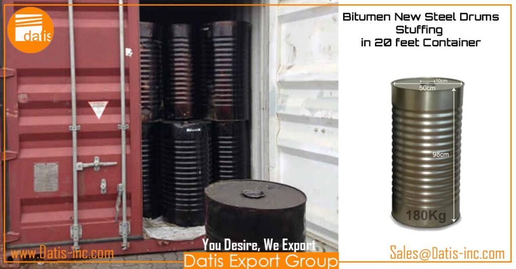 Bitumen New Steel Drums-Stuffing