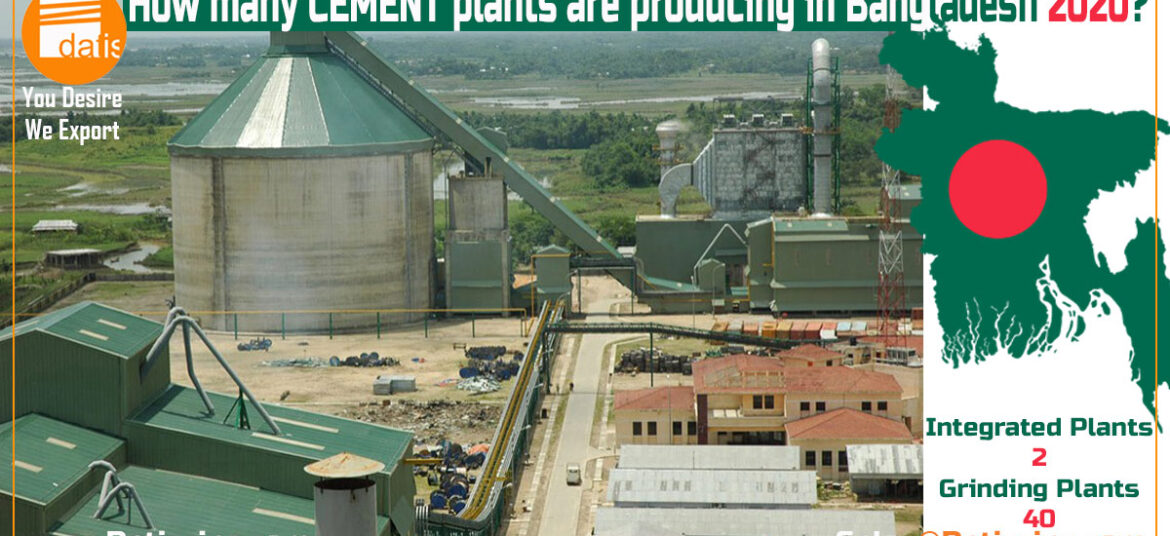 How many CEMENT plants are producing in Bangladesh 2020