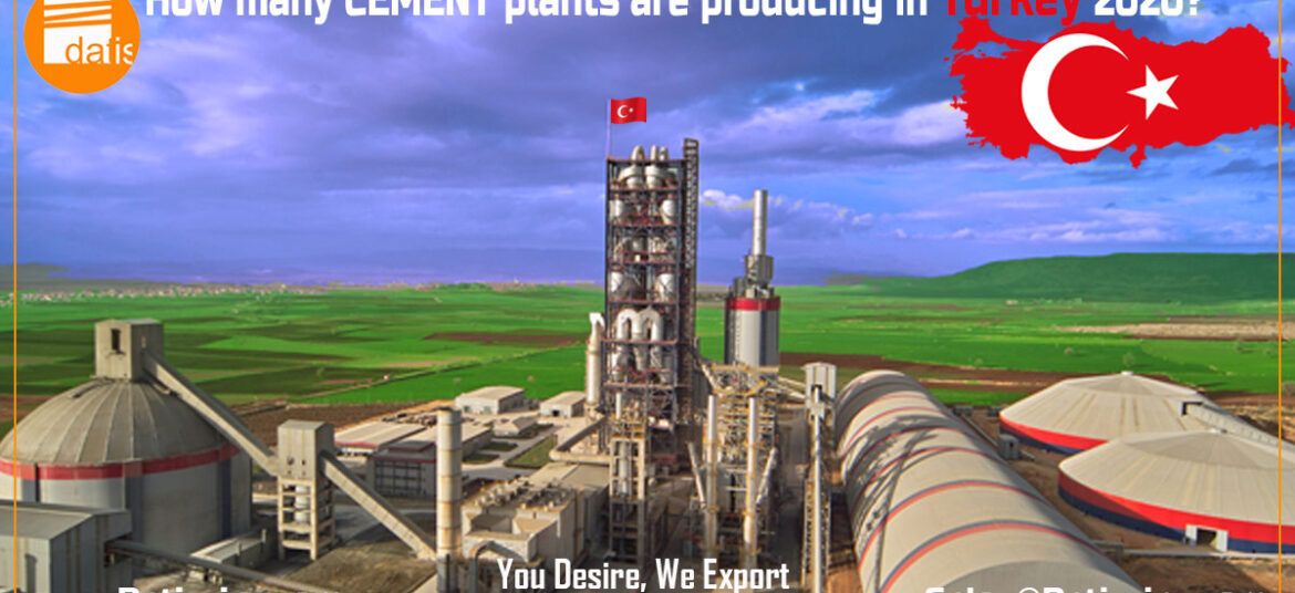 How many cement plants are producing in Turkey 2020