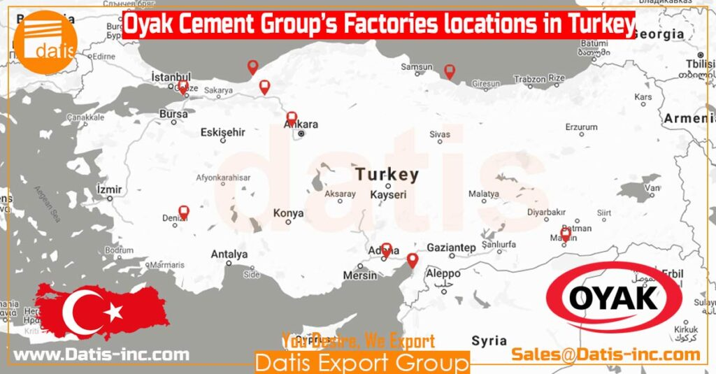 Oyak Cement Group-Factories Locations in Turkey-by Datis Export Group-Cement Supplier