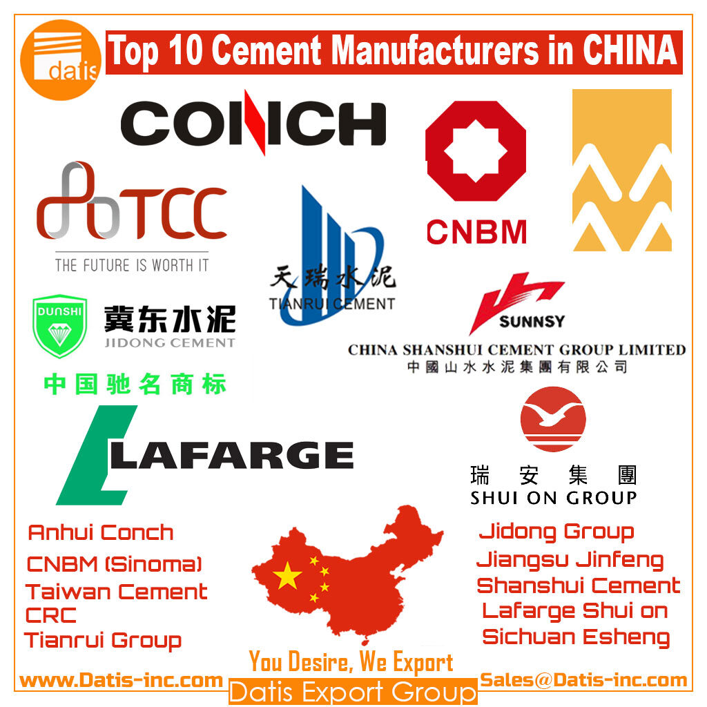 TOP 10 cement producer in CHINA-Datis Export Group