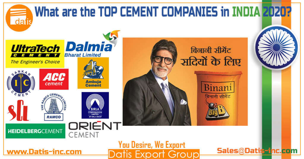What are the TOP cement companies in India 2020