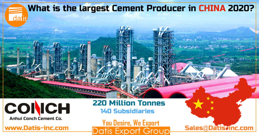 What is the largest cement producer in CHINA 2020