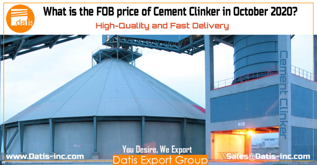 What is the FOB price of Cement Clinker in October 2020
