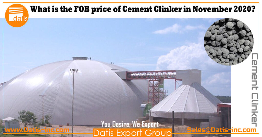 what is the FOB price of cement clinker in November 2020
